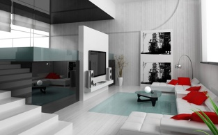 fantastic-modest-white-color-scheme-living-room