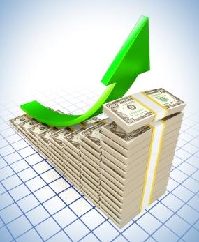 bigstock-Dollar-Raising-Charts-34022480